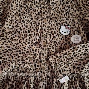 NEW HELLO KITTY Leopard Print Jacket